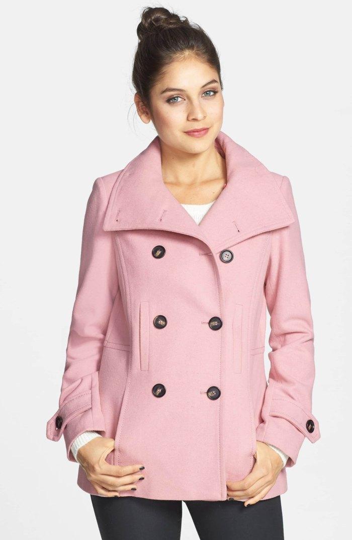 pink peacoat nordstrom