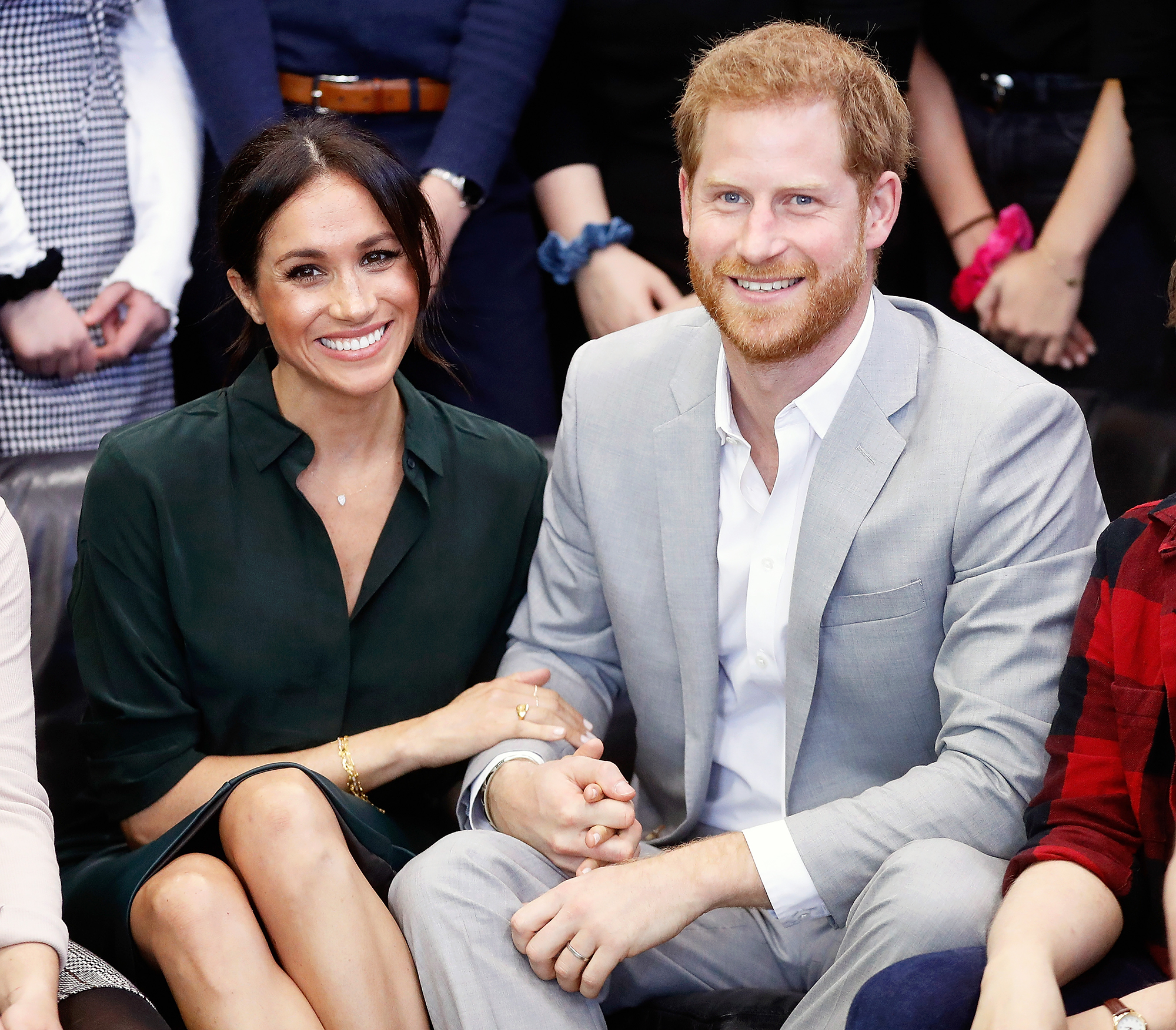 Prince Harry Duchess Meghan Royal Baby 7th In Line Throne - Duchess Meghan and Prince Harry make an official visit to the Joff Youth Centre in Peacehaven, Sussex on October 3, 2018 in Peacehaven, United Kingdom.