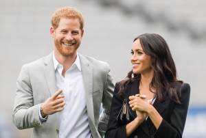 The pregnant duchess Meghan and Prince Harry are