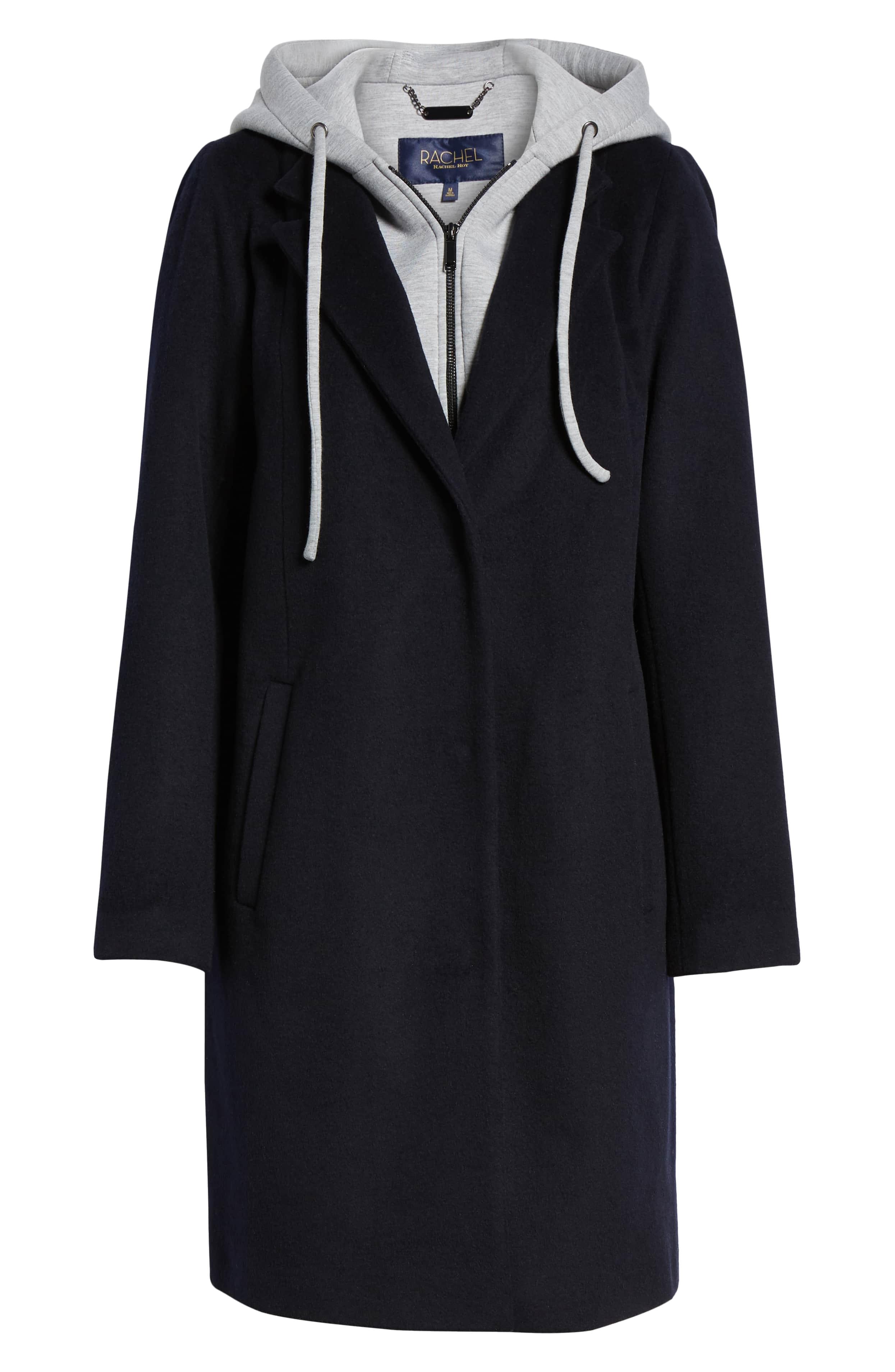 rachel roy hoodie trench coat