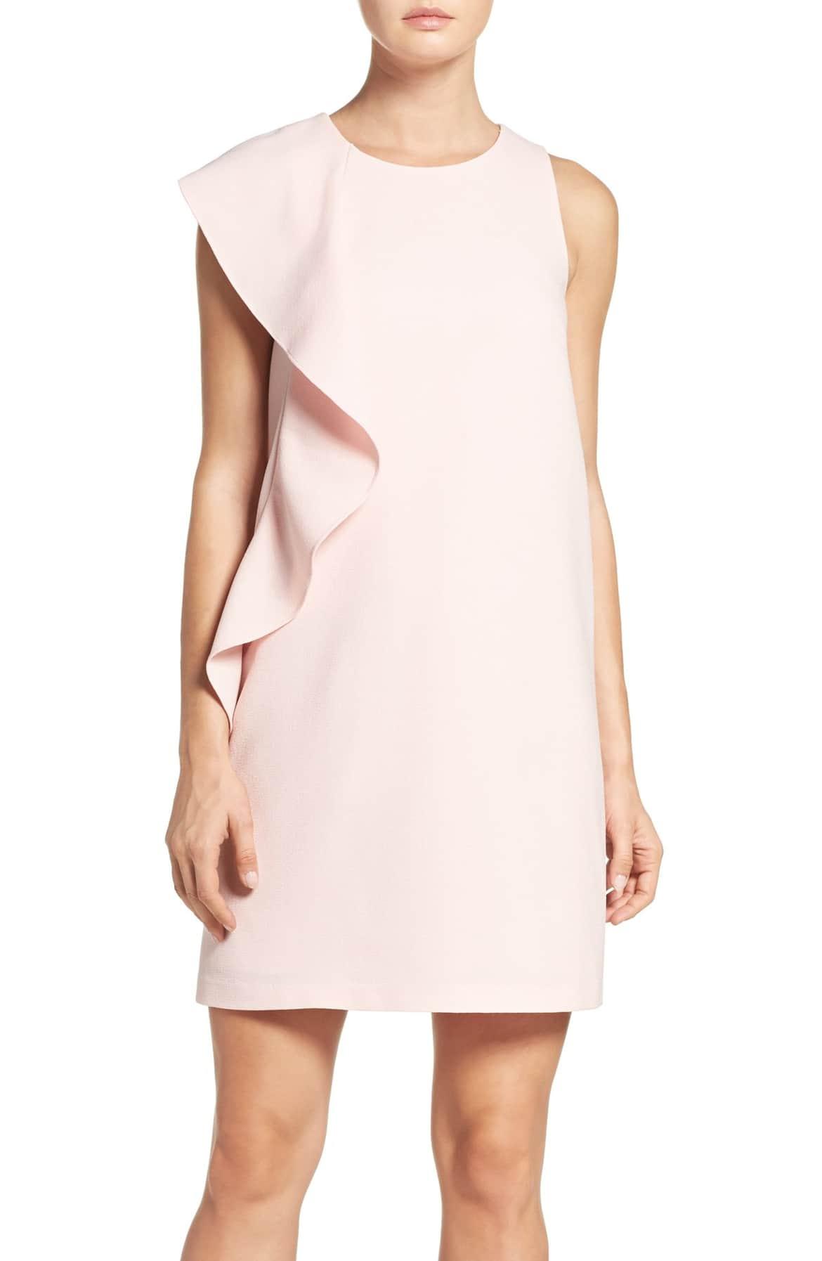 ruffle shift dress pink chelsea28