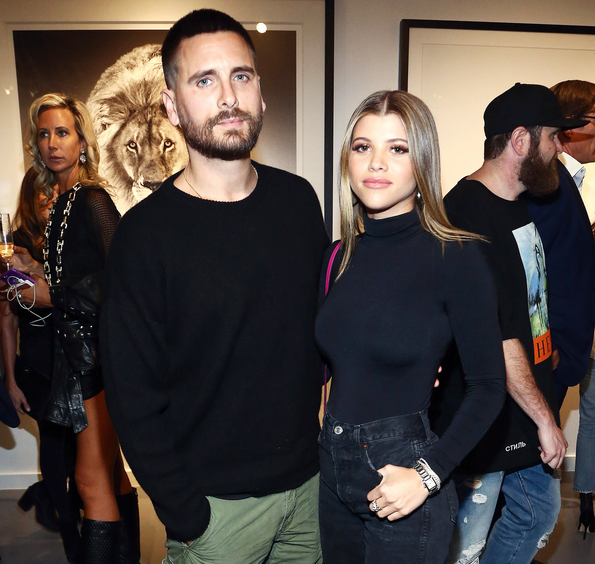 Scott Disick Sofia Richie Pack On The Pda At Gallery Opening