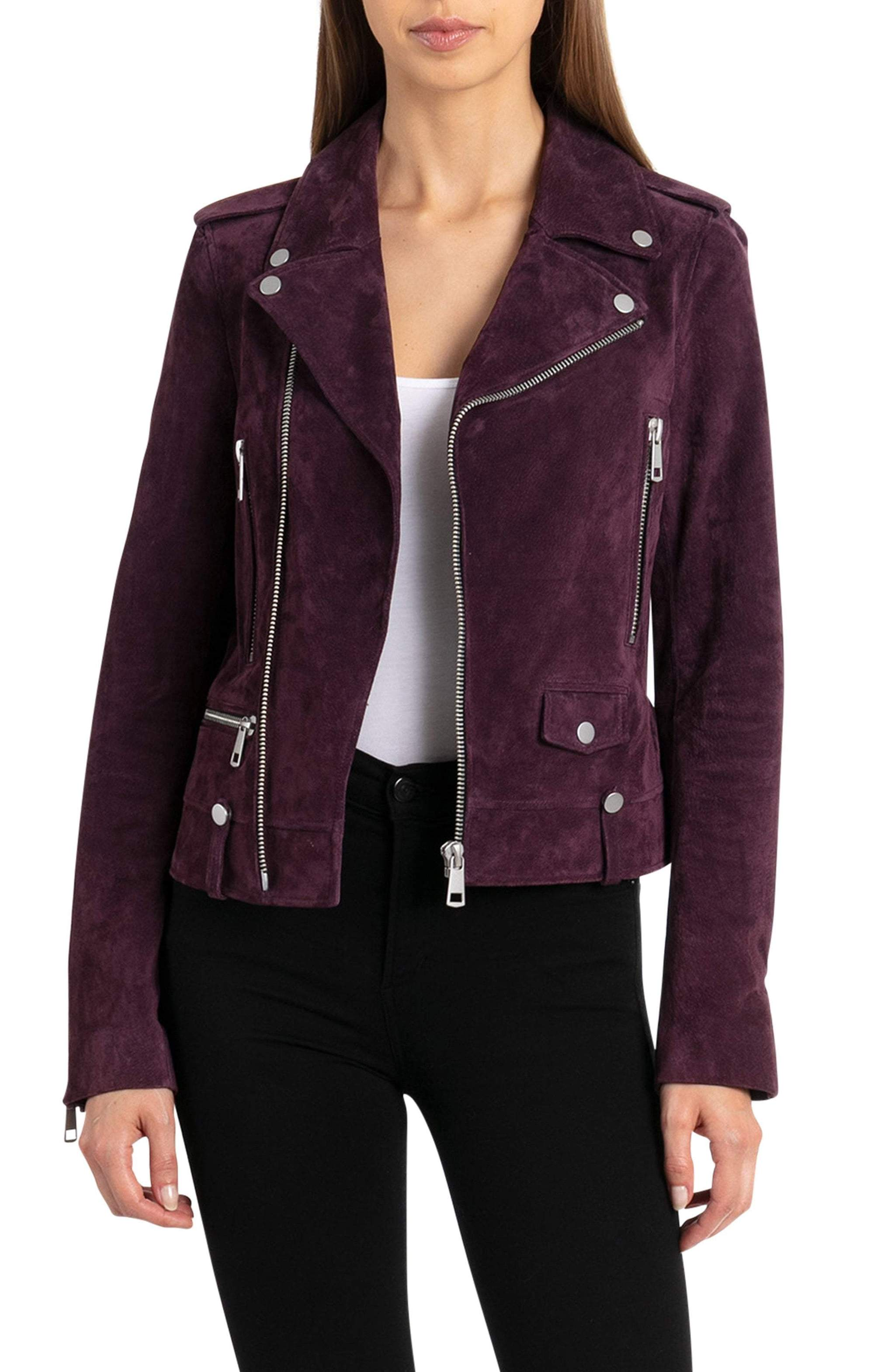 suede perfecto biker jacket bagatelle leather
