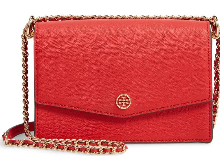 tory burch mini robinson convertible leather shouder bag