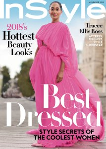 Tracee Ellis Ross on the cover of Instyle