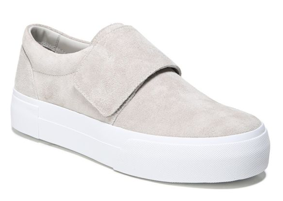 vince cage suede slip on sneakers