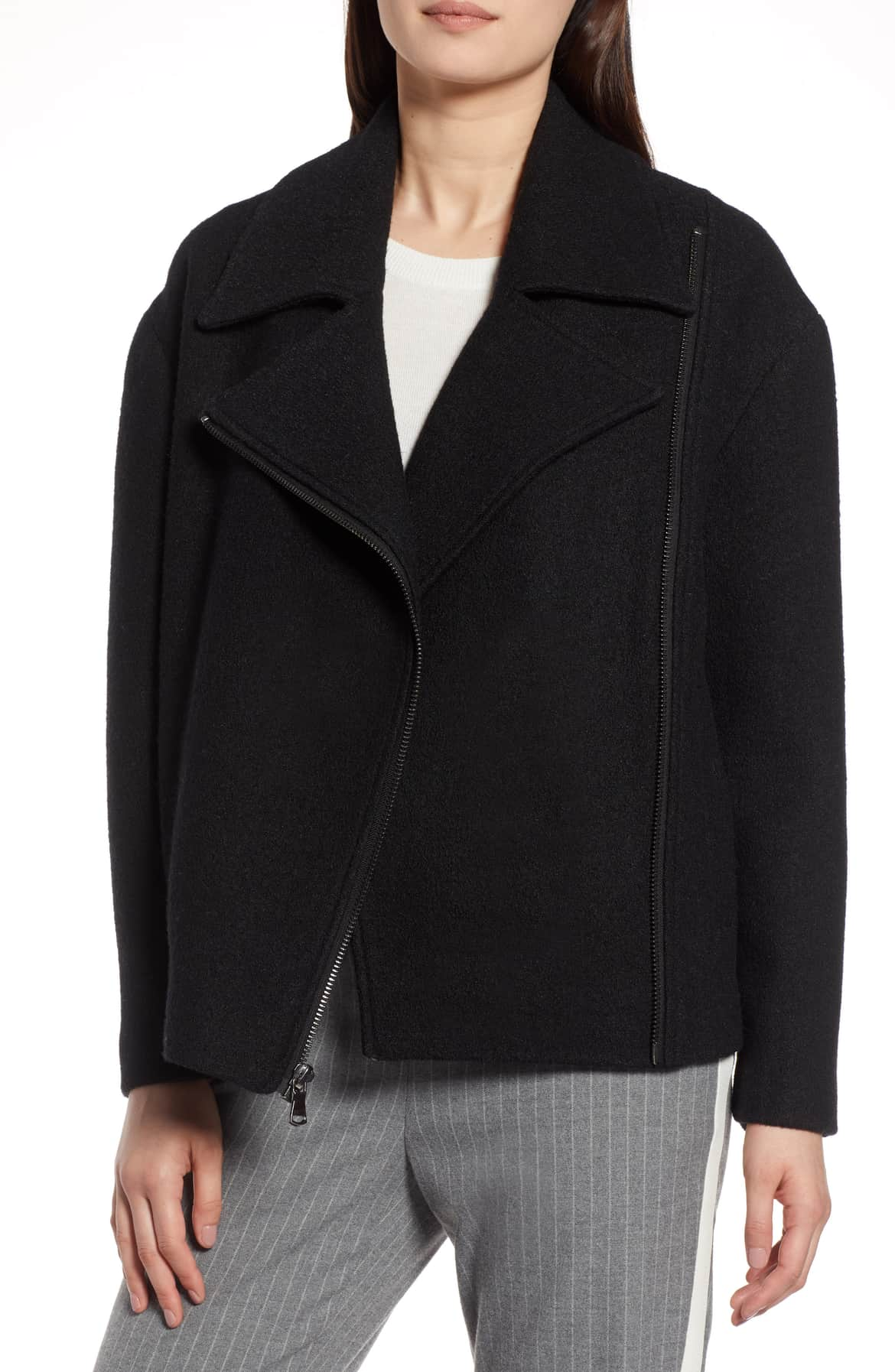 wool moto jacket black nordstrom