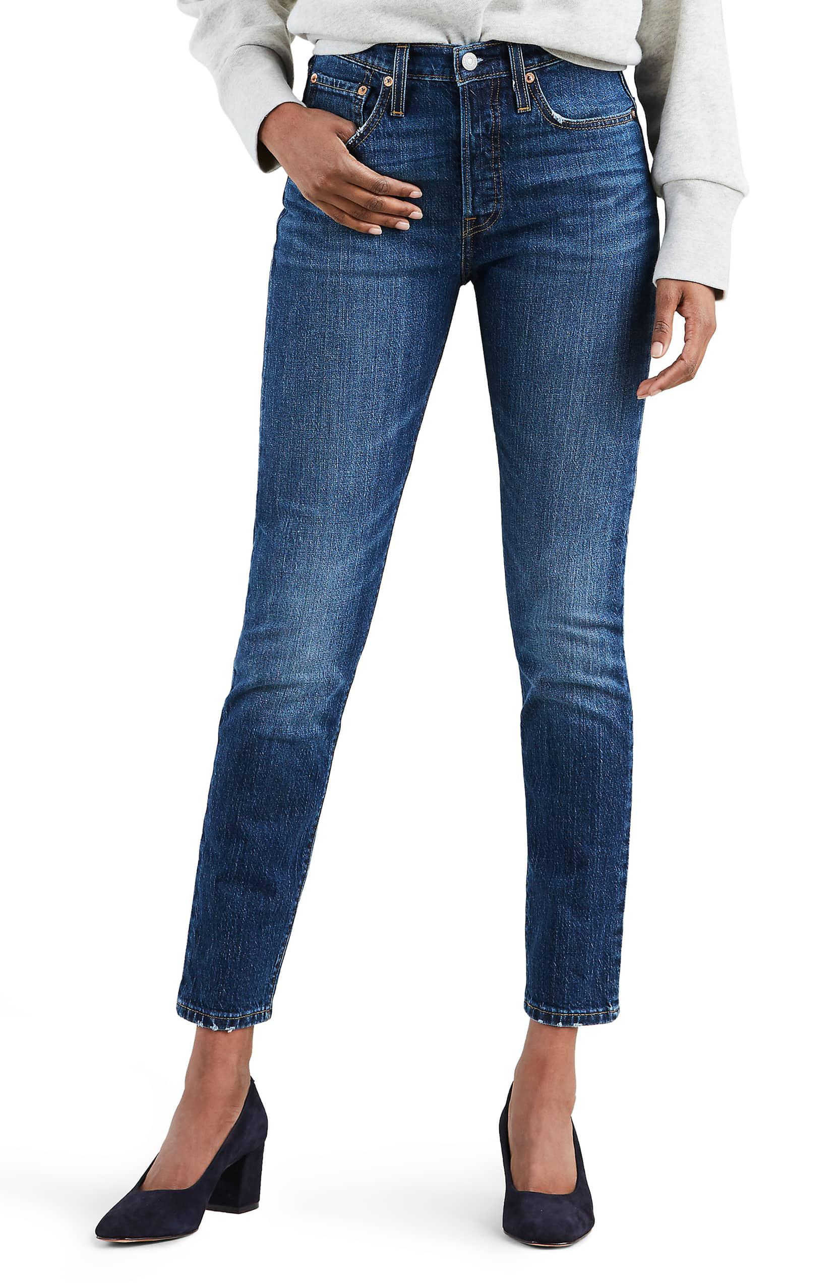 levi's 501 high waist ankle jeans