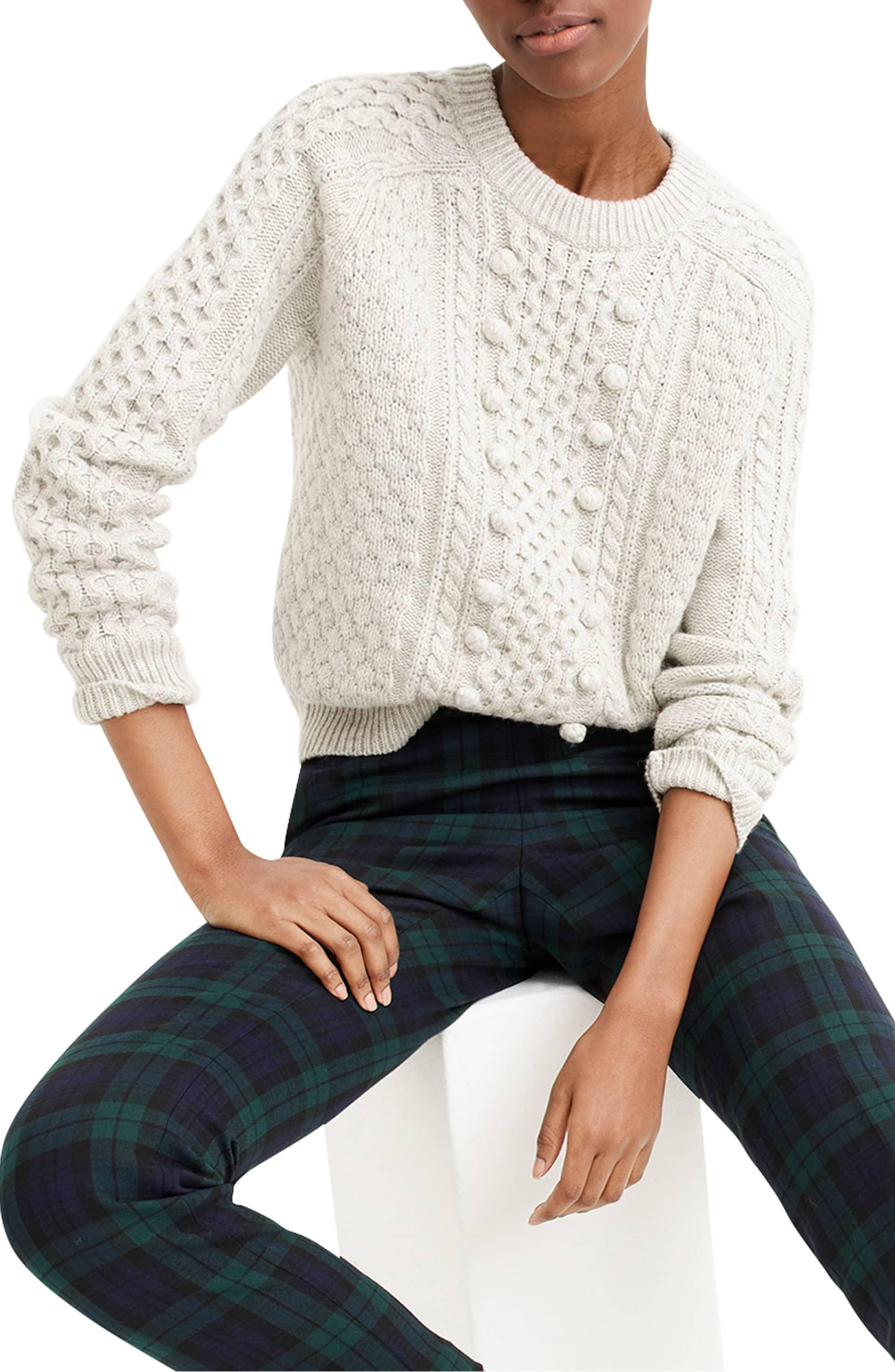 JCrew Popcorn Cable Knit Sweater