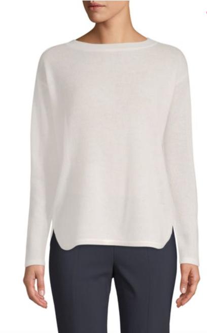 Cashmere Saks Fifth Avenue Boatneck Cashmere Sweater