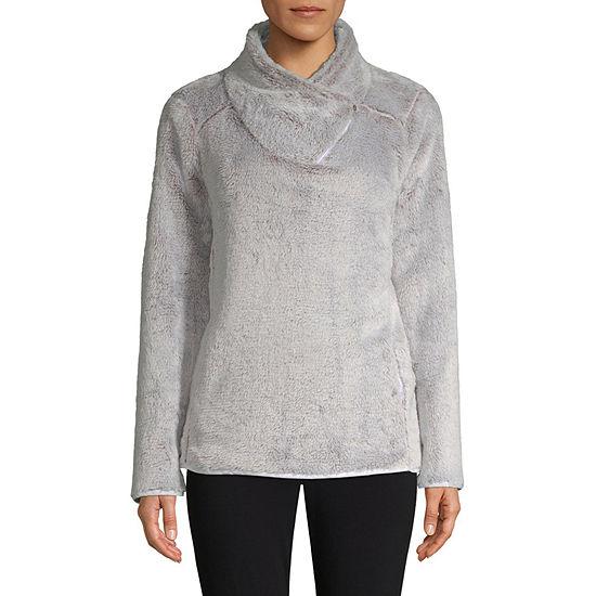 st johns bay active asymmetrical sweater