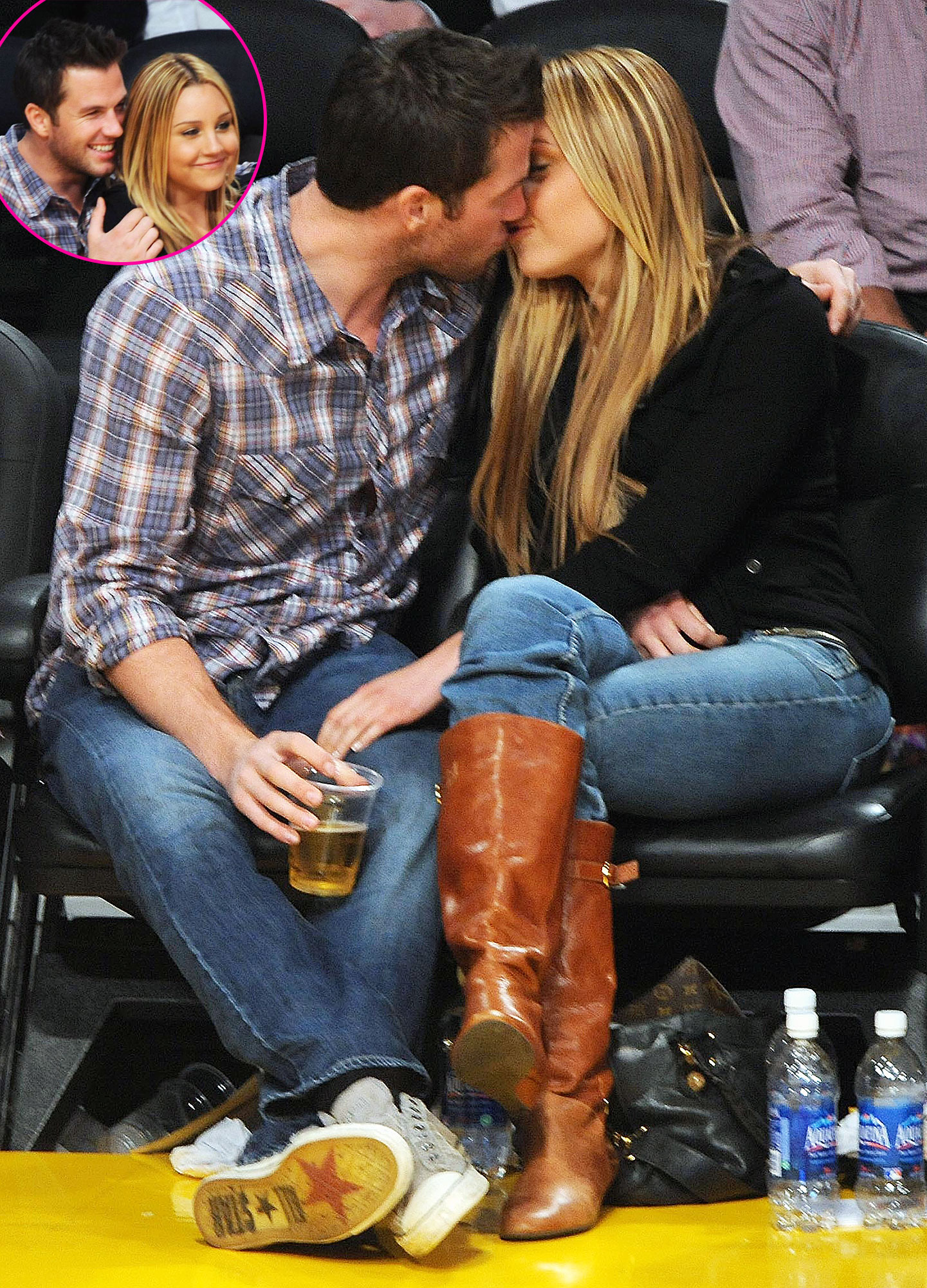 """Doug Reinhardt Kissing Amanda Bynes Through The Years - In 2008, the actress began dating Hills reality star Doug Reinhardt . """"Most guys I've dated started as friends,"""" she later told Maxim ."""
