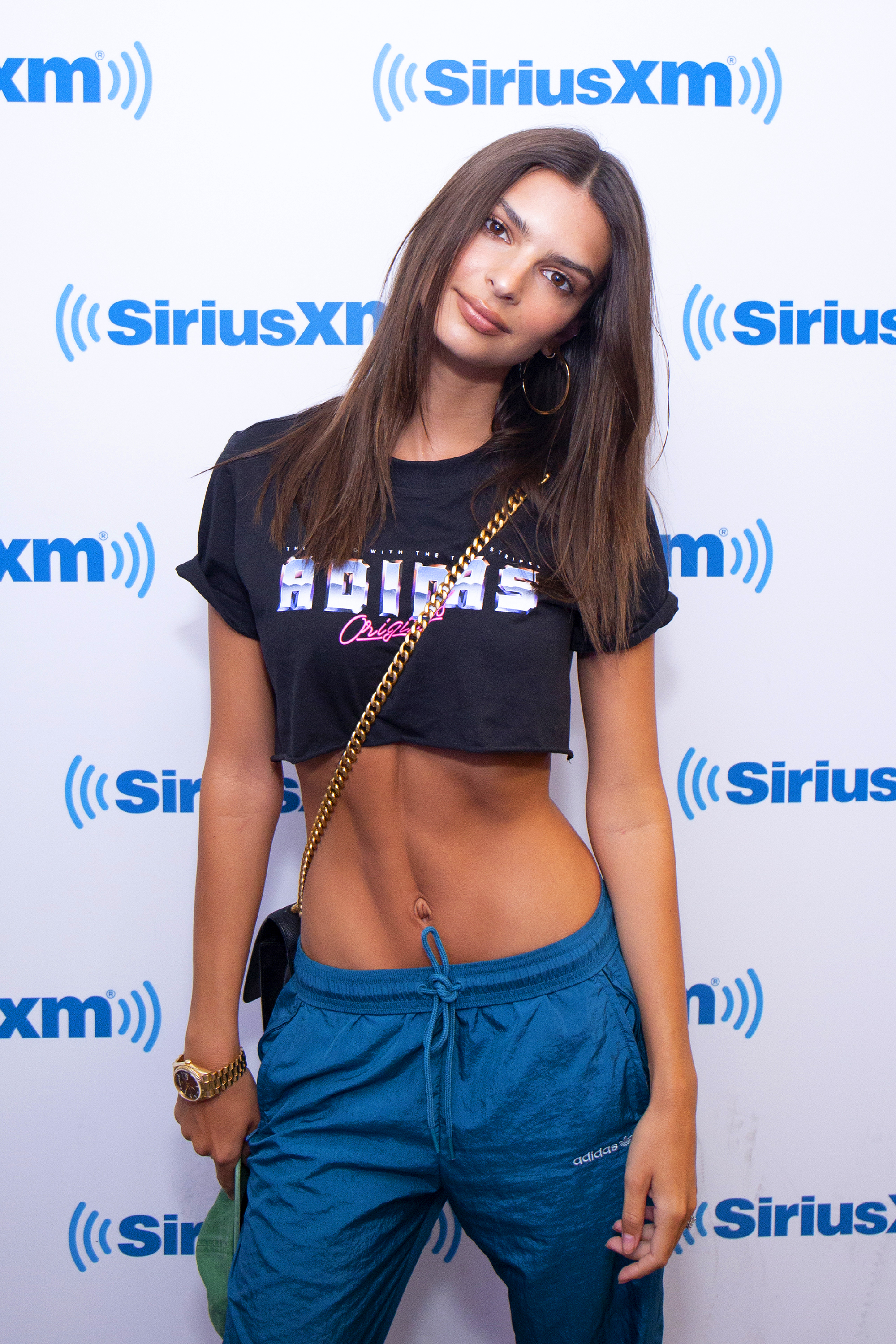 """Emily Ratajkowski abs - """"Lunch is usually a salad or a sandwich,"""" she's told Harper's Bazaar . """"If I'm on set, I'll have catering, but I'm well-behaved with that stuff. It's easy to go crazy — they know how to feed you."""""""