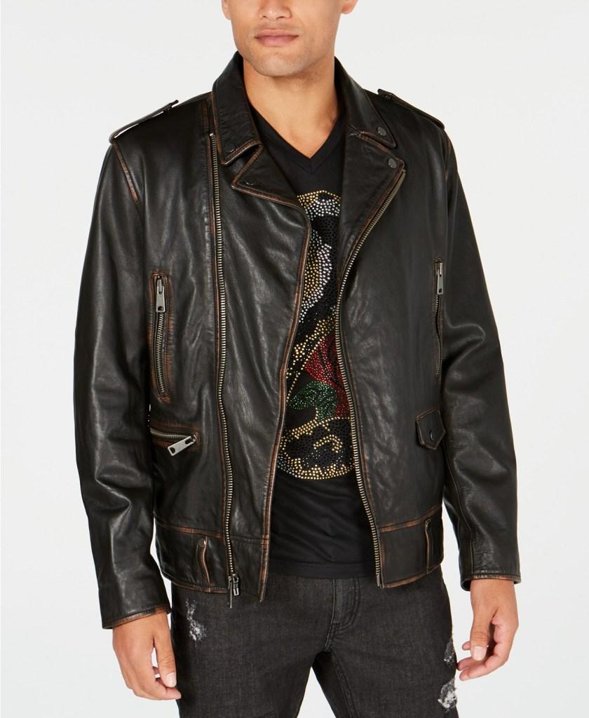 I.N.C. Men's Carter Leather Jacket
