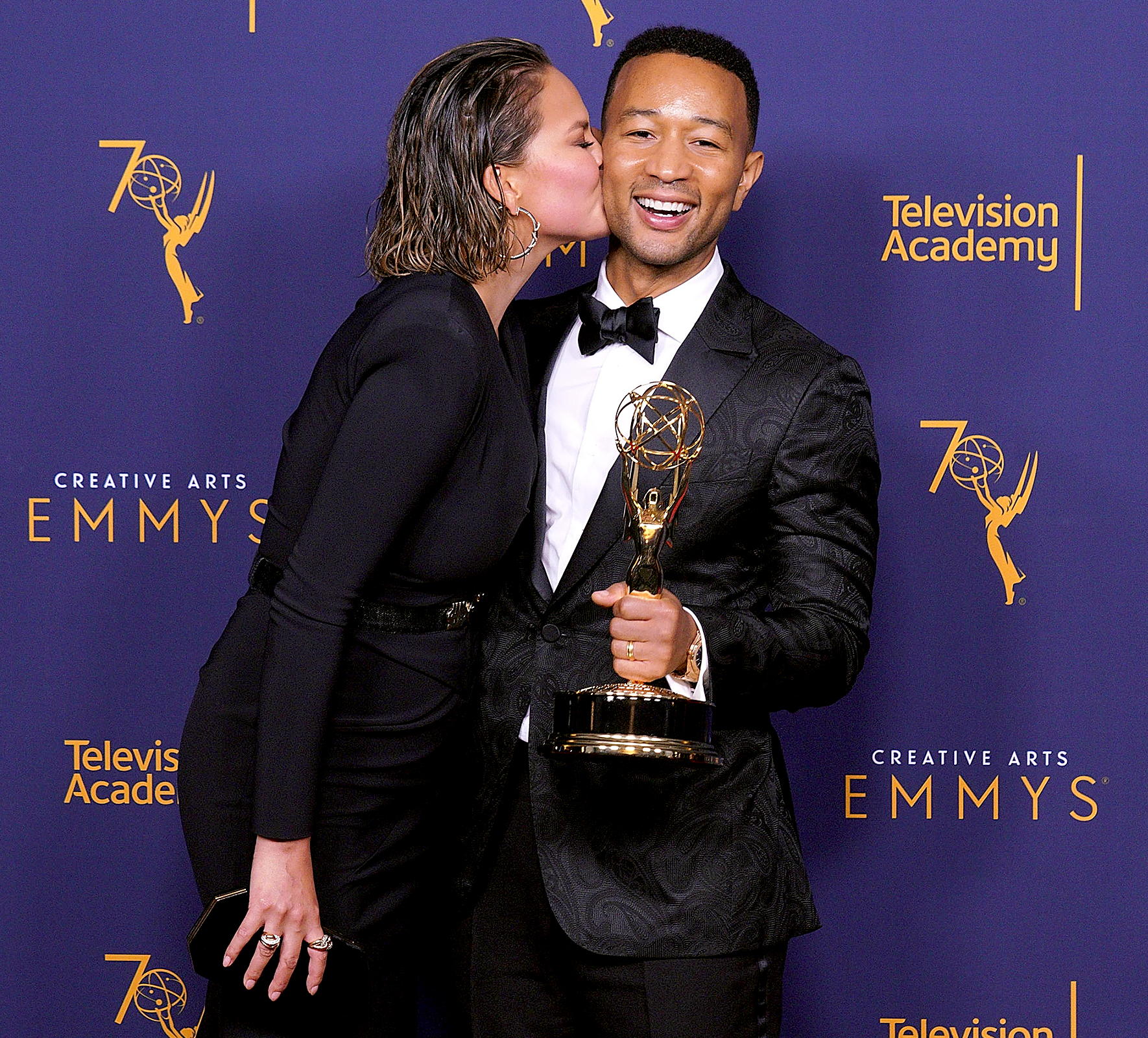 "John-Legend-and-Chrissy-Teigen-EGOT - Legend ended up achieving that EGOT in September 2018, his wife posted a video of him adding his Jesus Christ Superstar Live in Concert Emmy to his trophy shelf. But then she brought back the Arthur joke, quoting the show's theme song in her Instagram caption: ""And I say hey, what a wonderful kind of day."""
