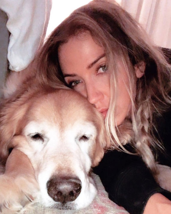 Kaitlyn Bristowe - Bristowe posted a sweet selfie cuddling her ex's pup less than two weeks after their breakup. She captioned the heartbreaking photo with a black heart emoji.