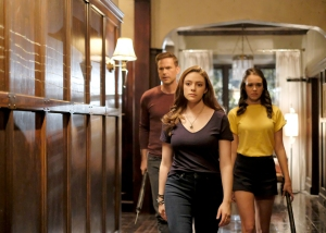 Matthew Davis as Alaric, Danielle Rose Russell as Hope, and Kaylee Bryant as Josie on Legacies