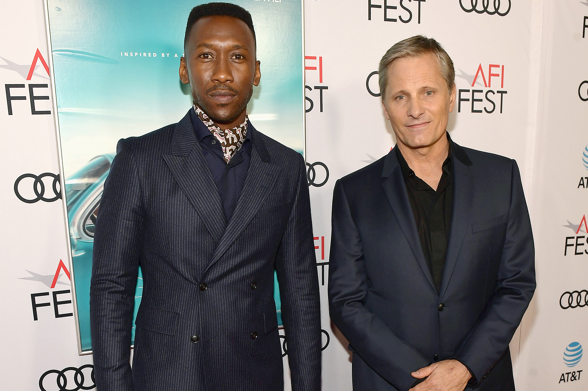 Mahershala Ali, Viggo Mortensen, Extraordinary Teammate, AFI Fest Gala - Mahershala Ali and Viggo Mortensen attend the Gala Screening of 'Green Book' at AFI FEST 2018 Presented By Audi at TCL Chinese Theatre on November 9, 2018 in Hollywood, California.