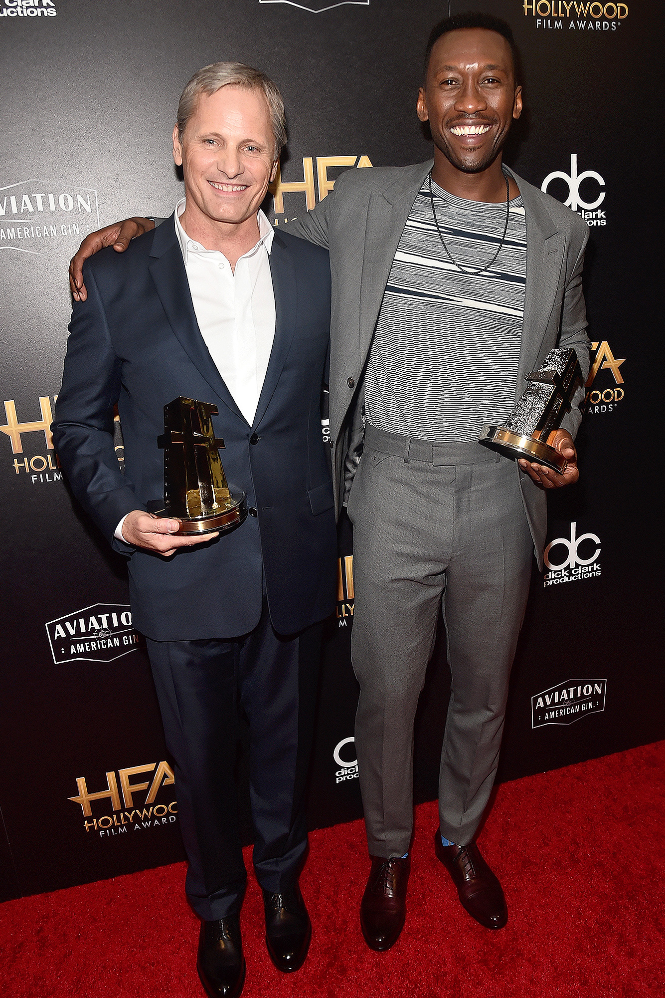 Mahershala Ali, Viggo Mortensen, Extraordinary Teammate, AFI Fest Gala - Viggo Mortensen and Mahershala Ali, recipients of the Hollywood Ensemble Award, pose in the press room during the 22nd Annual Hollywood Film Awards at The Beverly Hilton Hotel on November 4, 2018 in Beverly Hills, California.