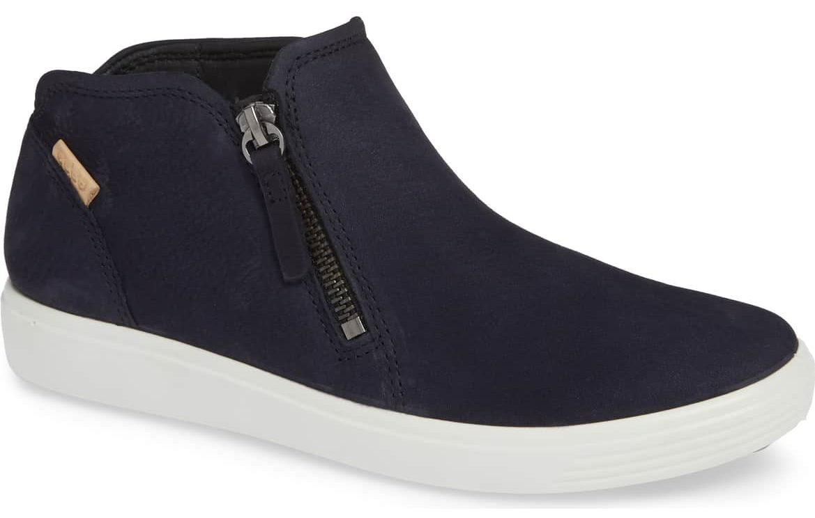 Night Sky Nubuck Leather ecco soft mid sneaker nordstrom