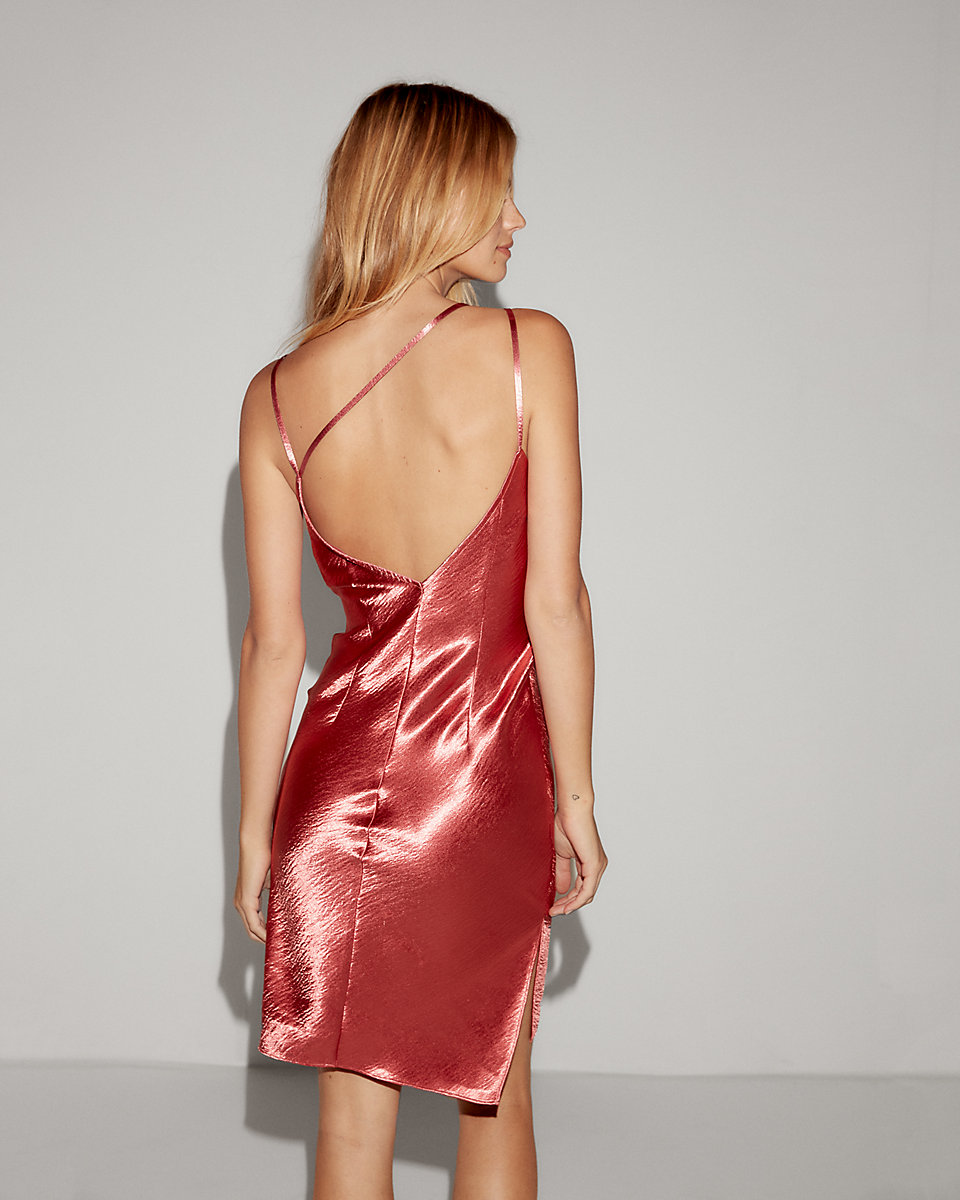 Satin Strappy Sheath Dress
