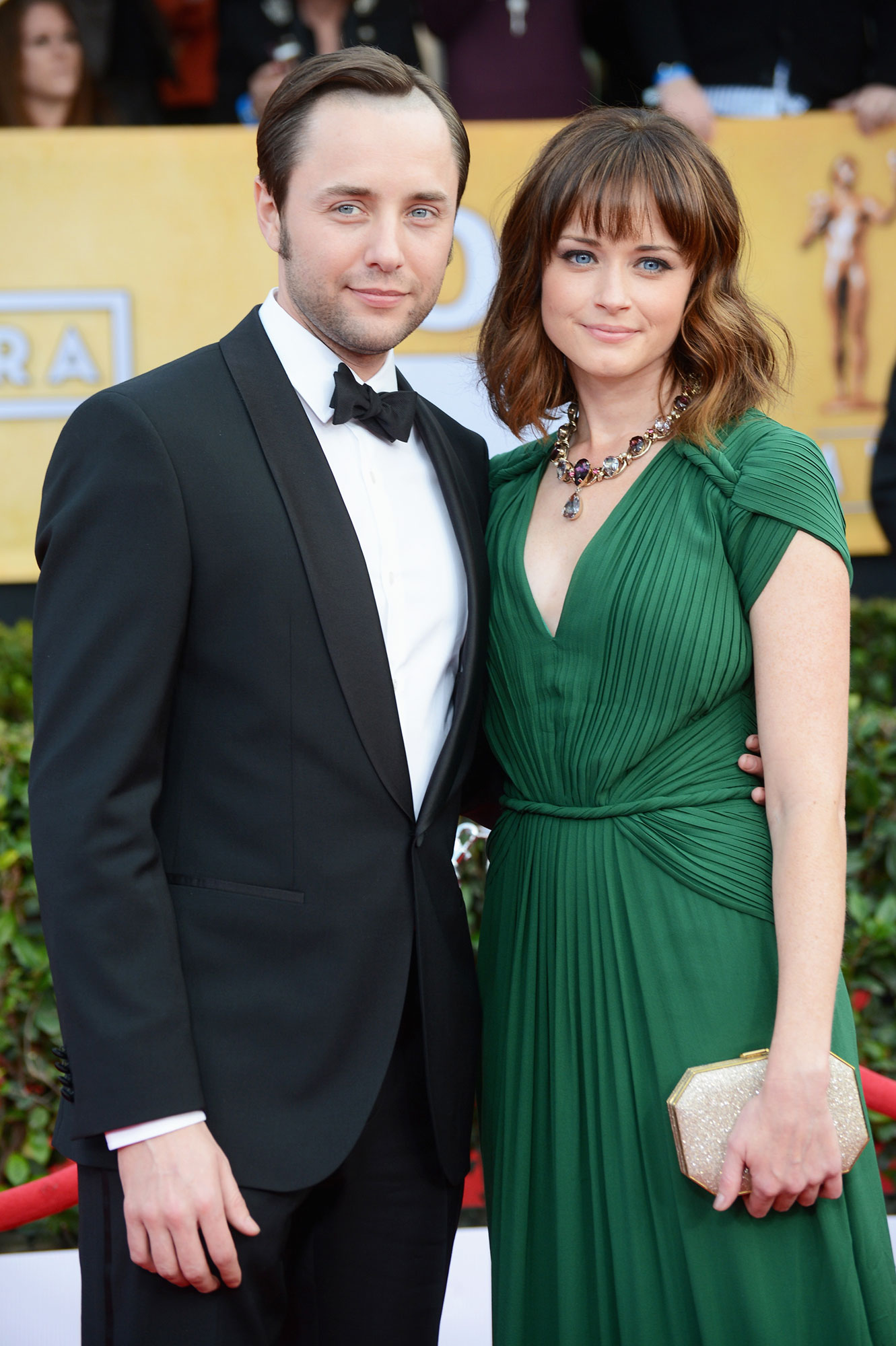 Vincent Kartheiser Alexis Bledel - The Handmaid's Tale actress and the Mad Men alum welcomed a baby boy in the fall of 2015, and they kept the new addition a secret until her Gilmore Girls costar Scott Patterson accidentally spilled the beans.