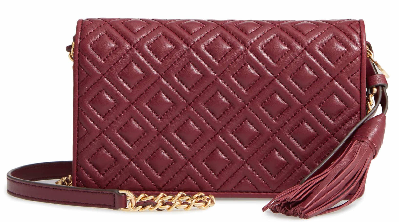 Tory Burch Fleming Leather Wallet:Crossbody