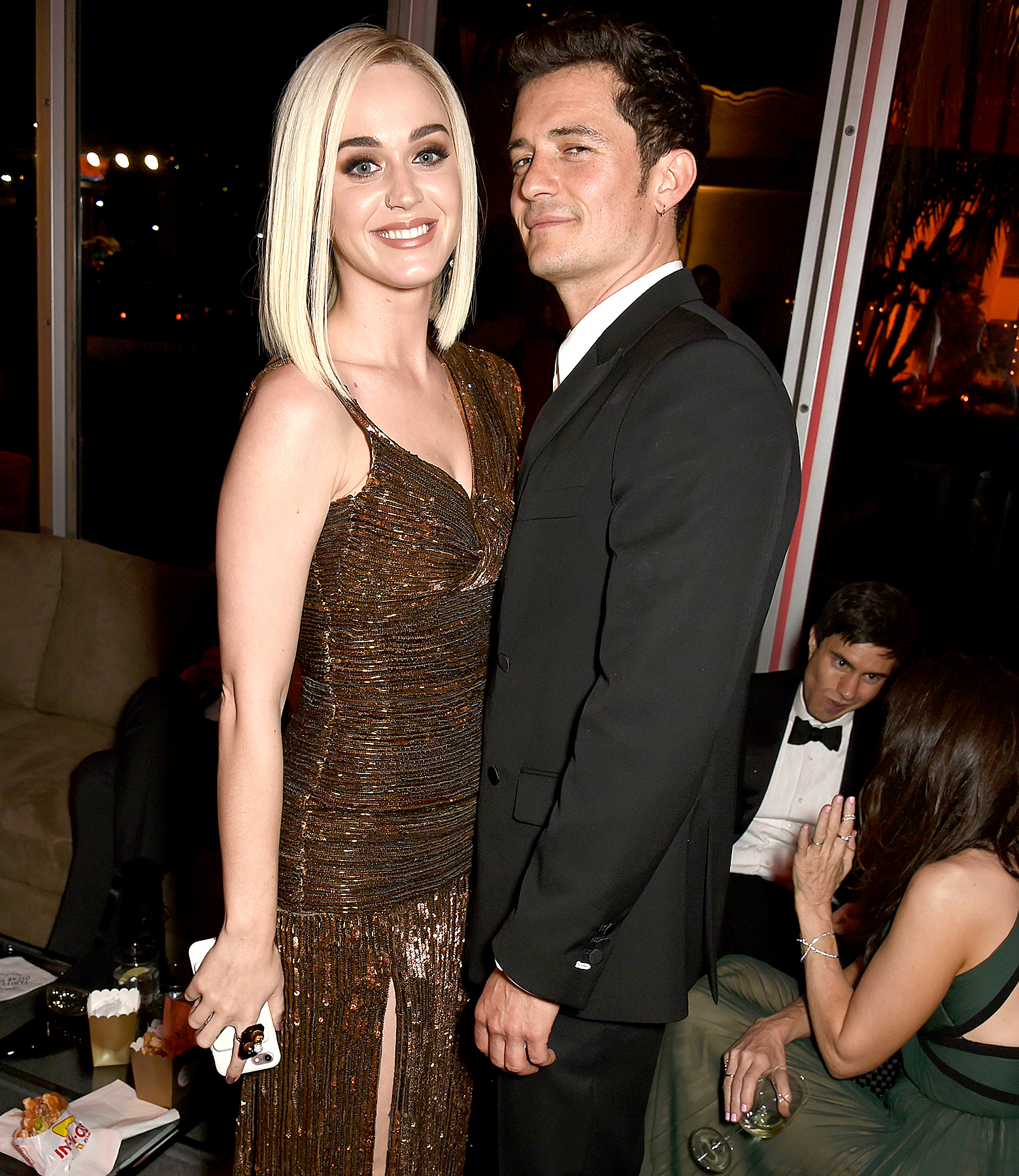 """back-together katy perry orlando bloom - Us exclusively revealed that the couple were officially back together . Perry later told Entertainment Tonight , """"I have been spoken for … and I'm very happy!"""""""