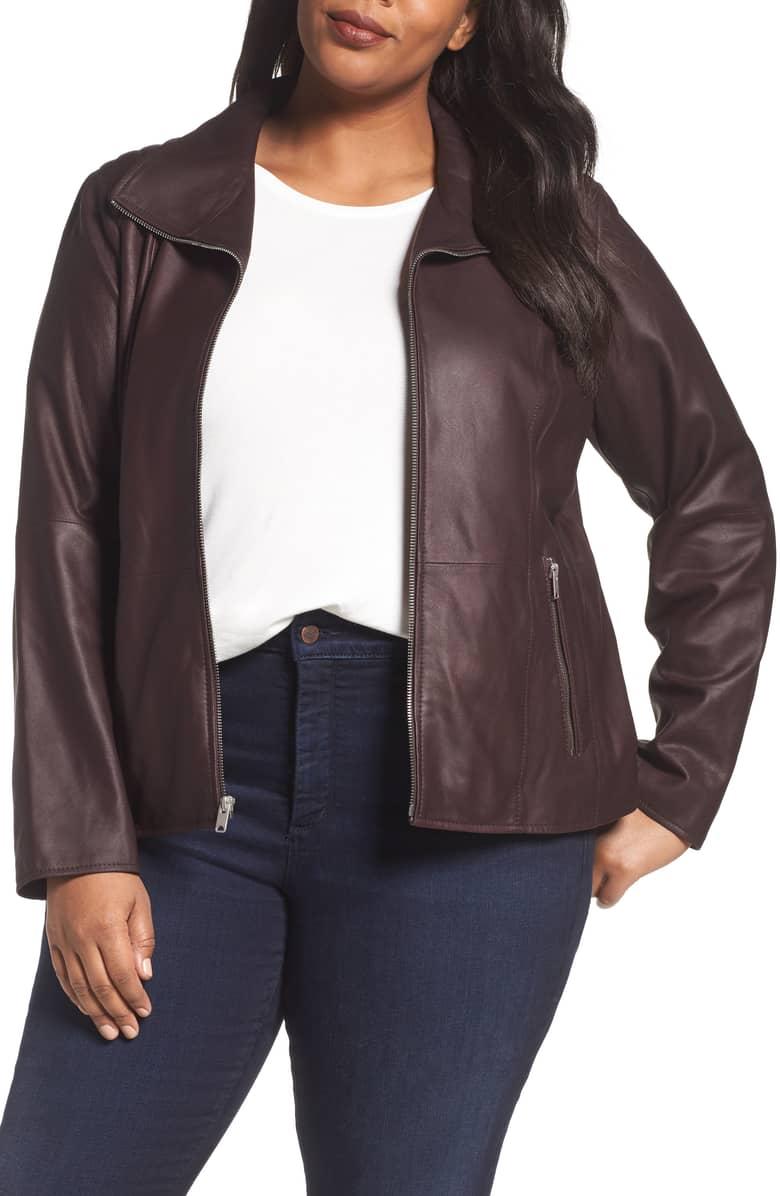 burgundy leather jacket