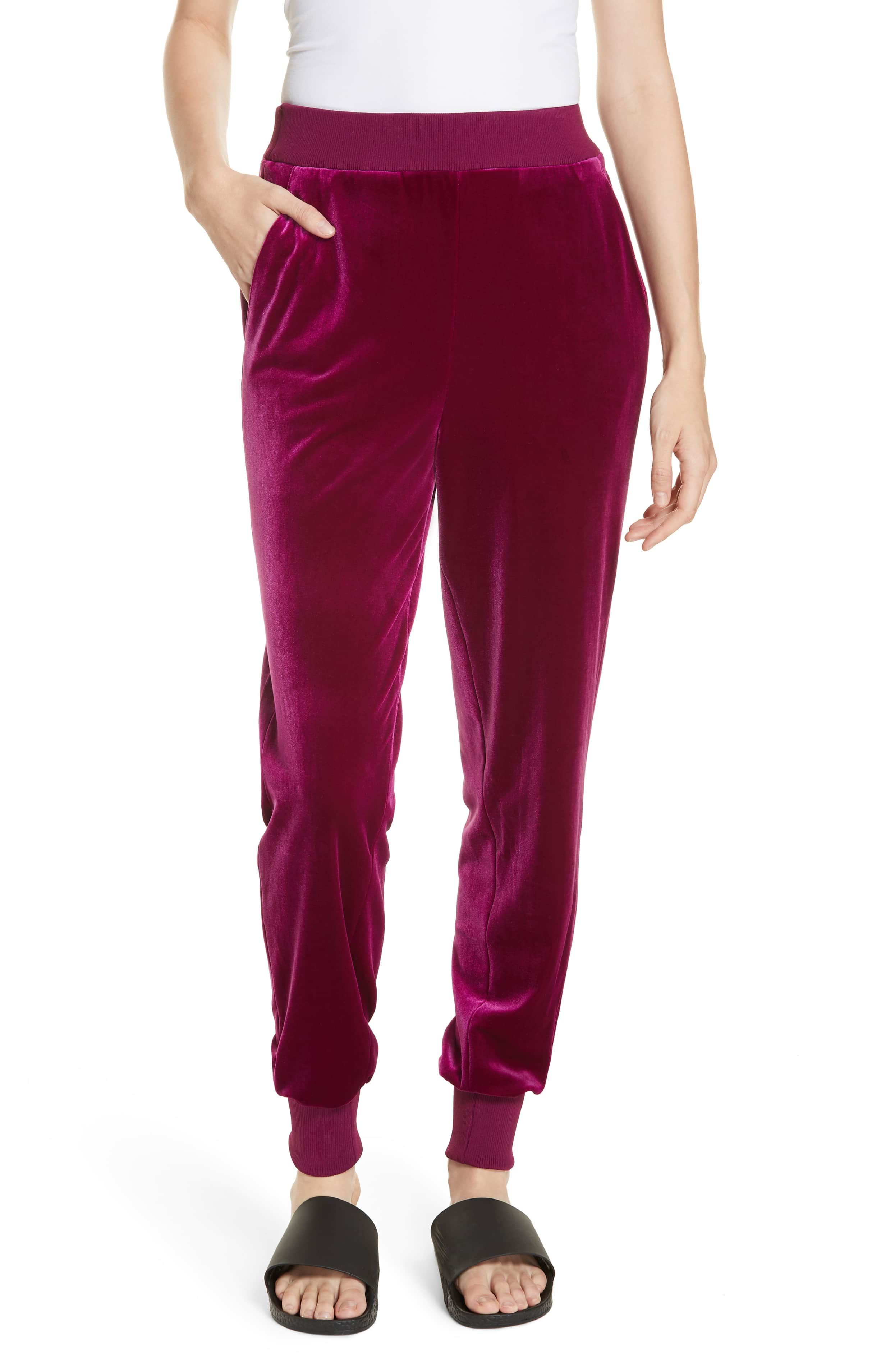 burgundy tibi jogger pants