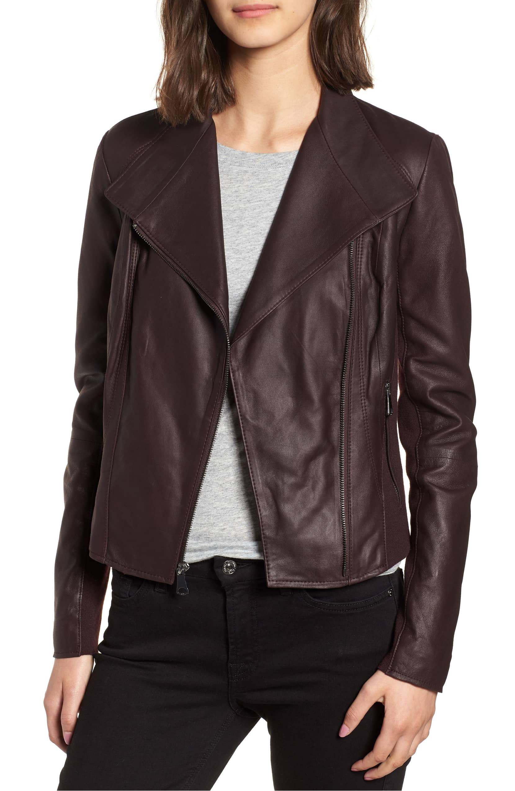 This Brown Leather Jacket Is A Great Alternative To
