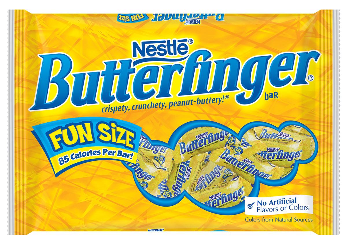 butterfinger - Nicole Richie and Joel Madden snack on these bite-sized smooth yet crunchy peanut butter milk chocolate candies. ($4, walmart.com )