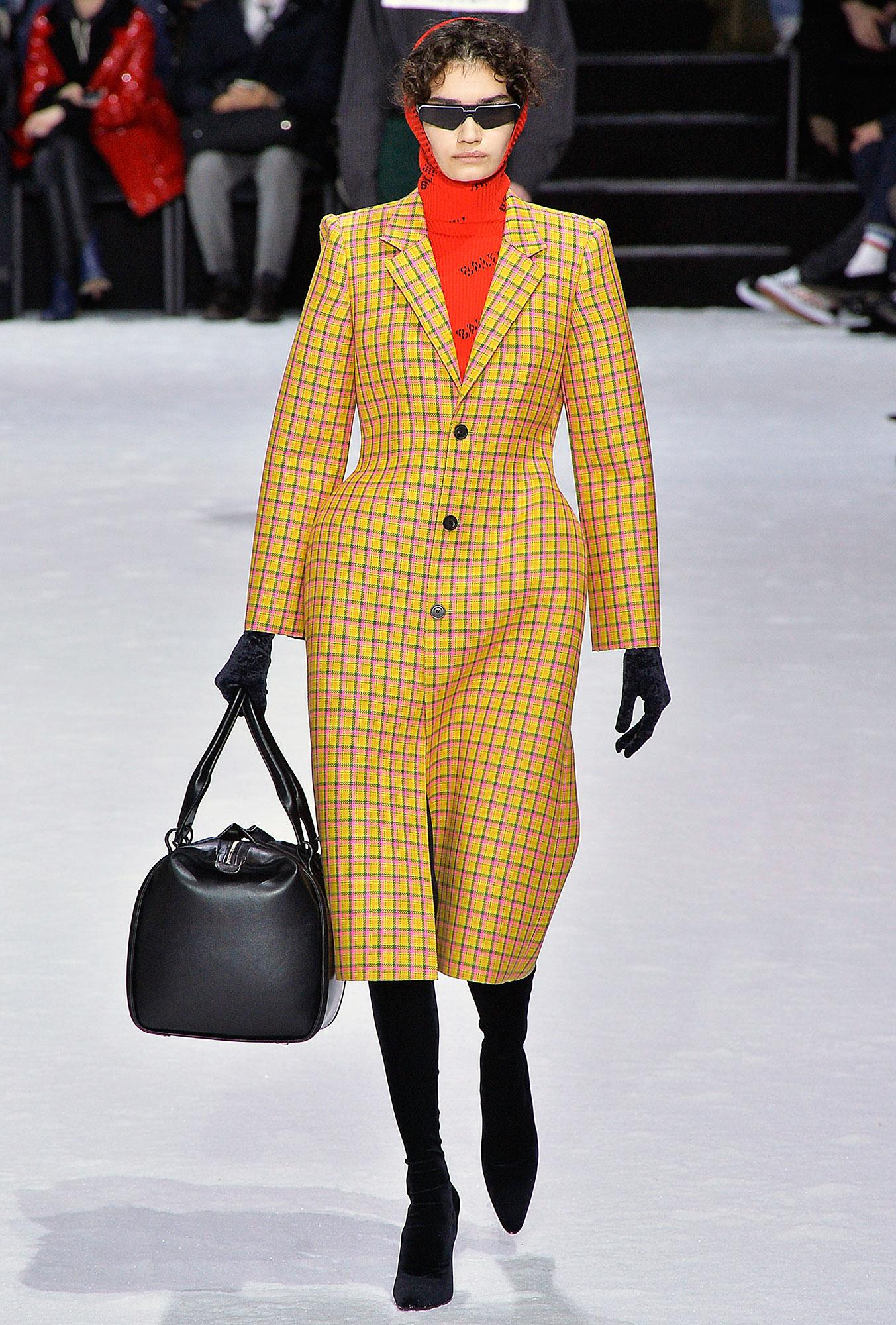 Cardi B Balenciaga Mama Coat Runway