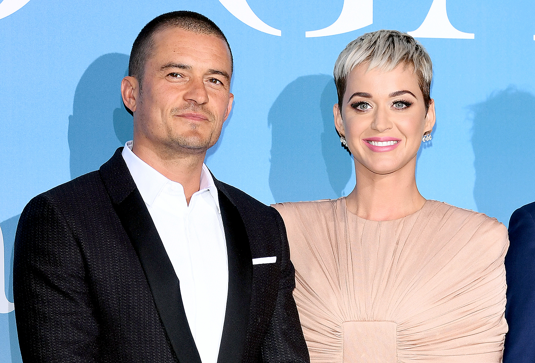 carpet-debut katy perry orlando bloom - After dating on and off for more than two years, the pair finally made their red carpet debut together at the Gala for the Global Ocean in Monaco.