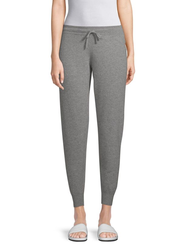 cashmere saks fifth avenue cashmere tapered joggers