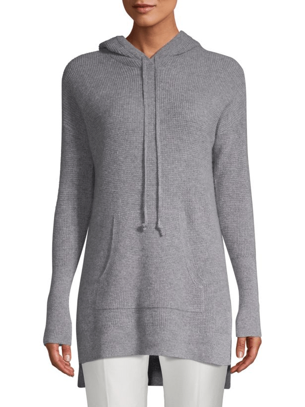 cashmere waffle knit hoodie