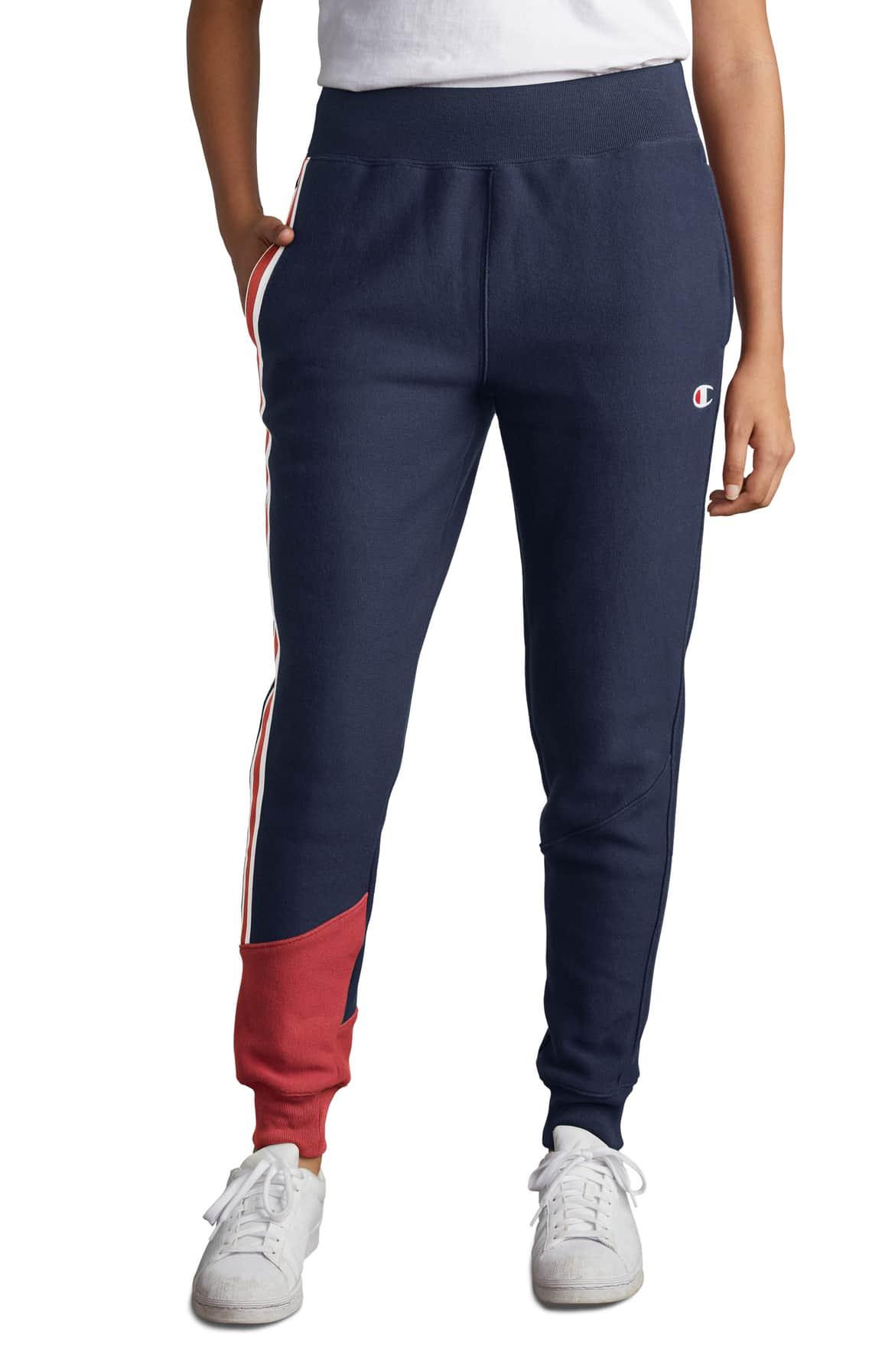 champion color block jogger pants