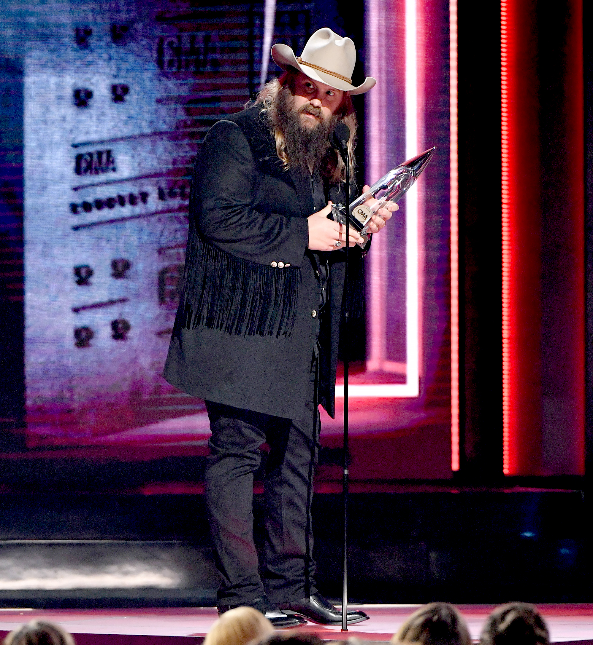 Denver Nuggets Box Office: Watch Chris Stapleton Get Emotional Thanking His Family At
