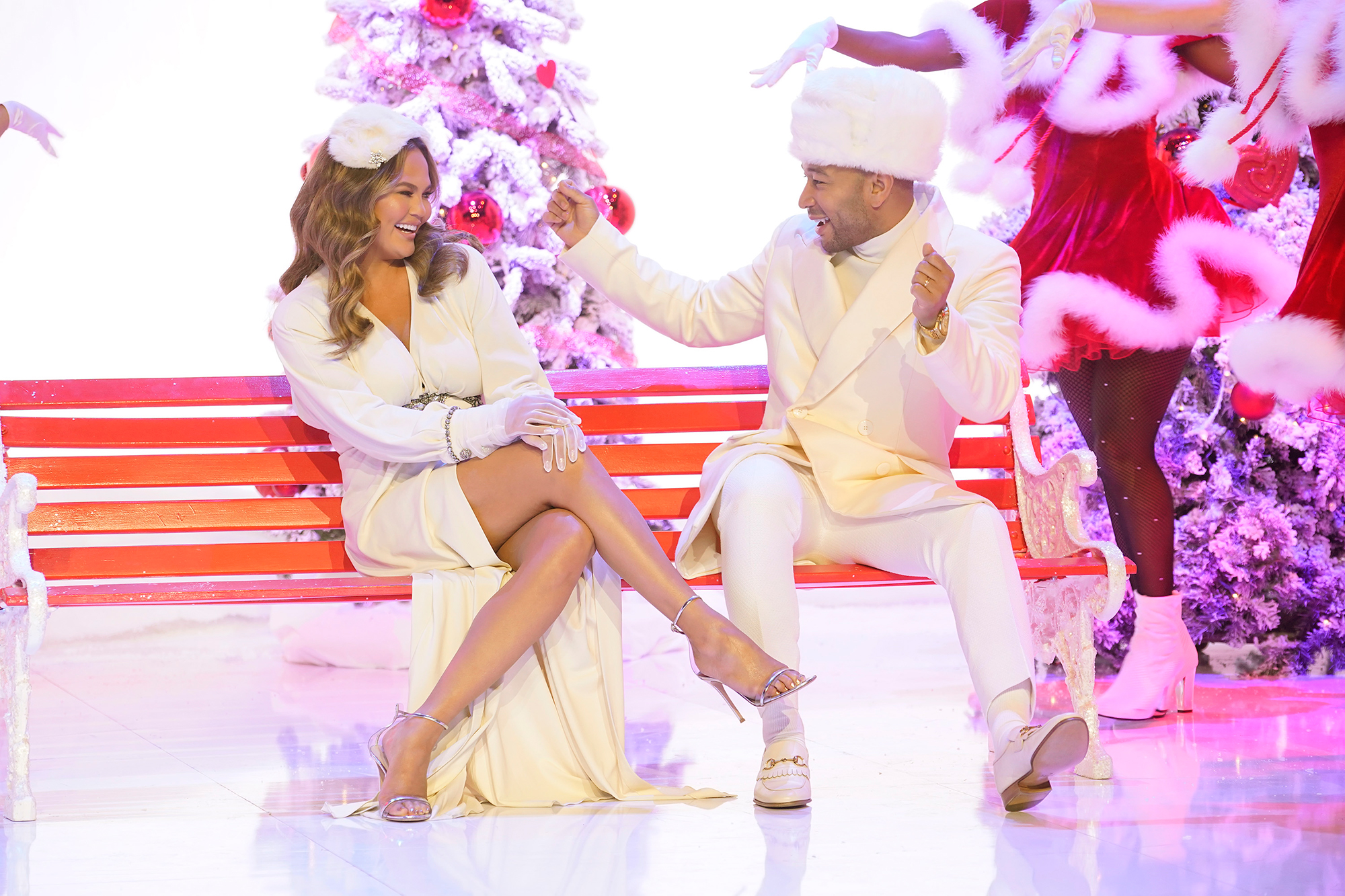 Relive Every Hilarious Time Chrissy Teigen Has Trolled Husband John Legend - A LEGENDARY CHRISTMAS WITH JOHN & CHRISSY — 2018 — Pictured: (l-r) Chrissy Teigen, John Legend — (Photo by: Paul Drinkwater/NBC/NBCU Photo Bank via Getty Images)