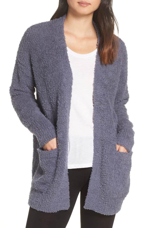 cozy cardigan blue
