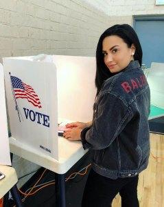 Demi Lovato Voting