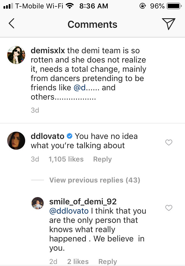 Demi Lovato Shuts Down Fan