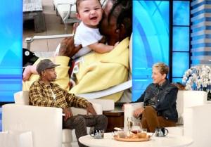 Travis Scott and Ellen DeGeneres
