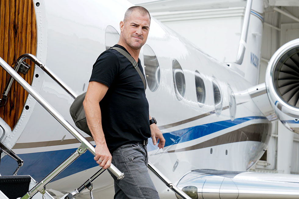 George Eads MacGyver Shocking TV Exits - In October 2018, Eads stormed off the set of CBS' MacGyver reboot, sources told The Hollywood Reporter in November. Although he was No. 2 on the call sheet, showrunner Peter Lenkov and producers agreed to let him out of his contract.