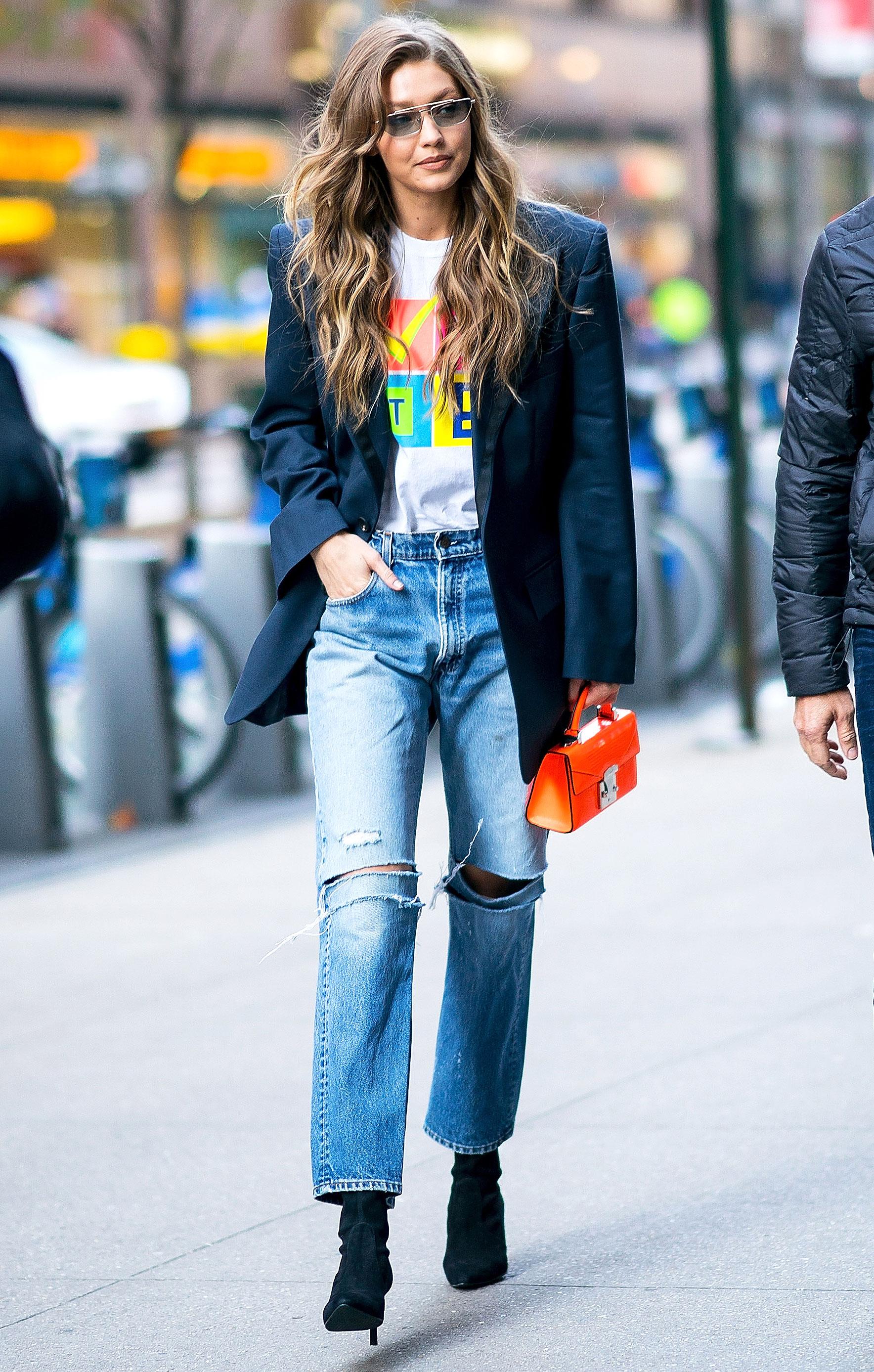 e685d0e553d4 Gigi Hadid's Best 2018 Street Style Fashion: Pics