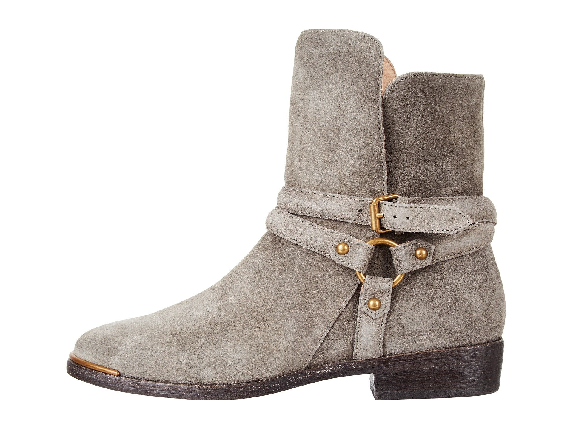 gray ankle boots moto ugg australia