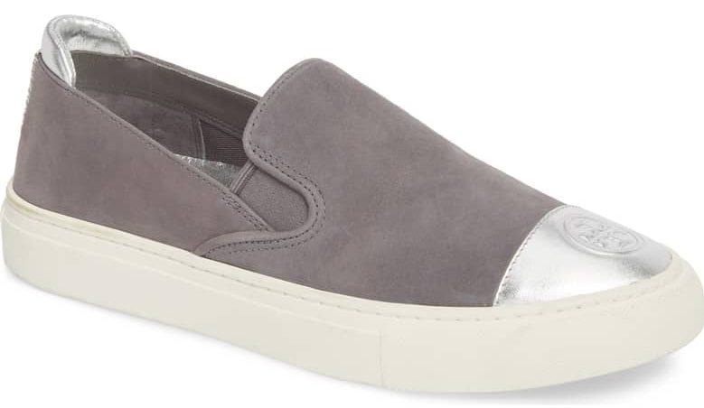 gray slip on sneaker