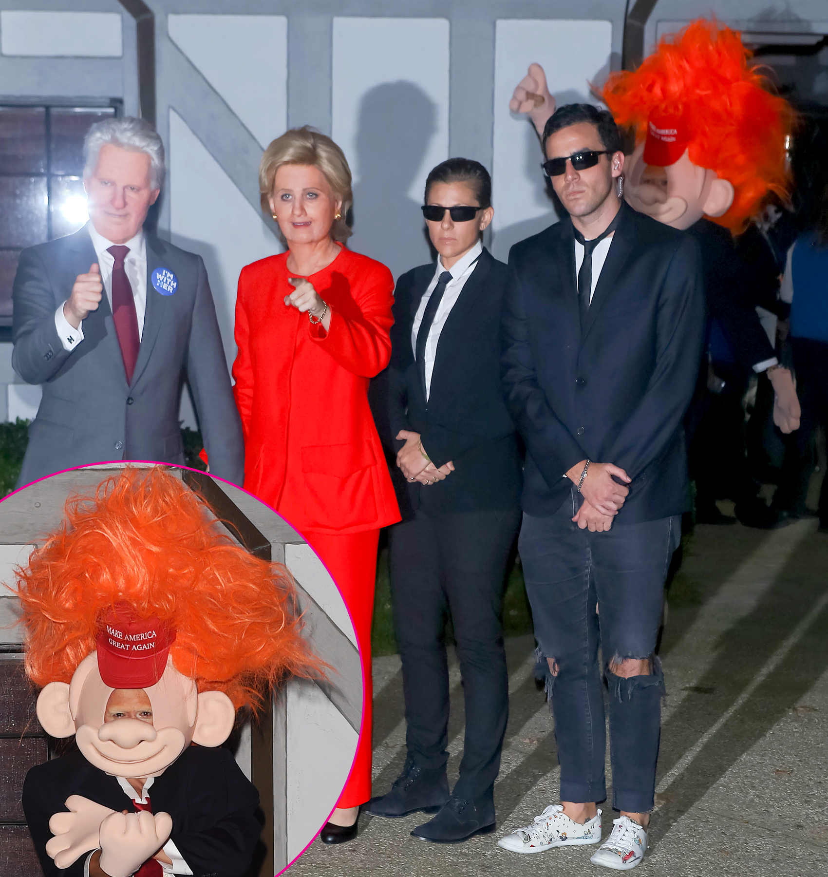 halloween katy perry orlando bloom - The lovebirds turned heads on Halloween when the Grammy nominee dressed as Hillary Clinton and the actor stepped out as Donald Trump ahead of the 2016 presidential election.