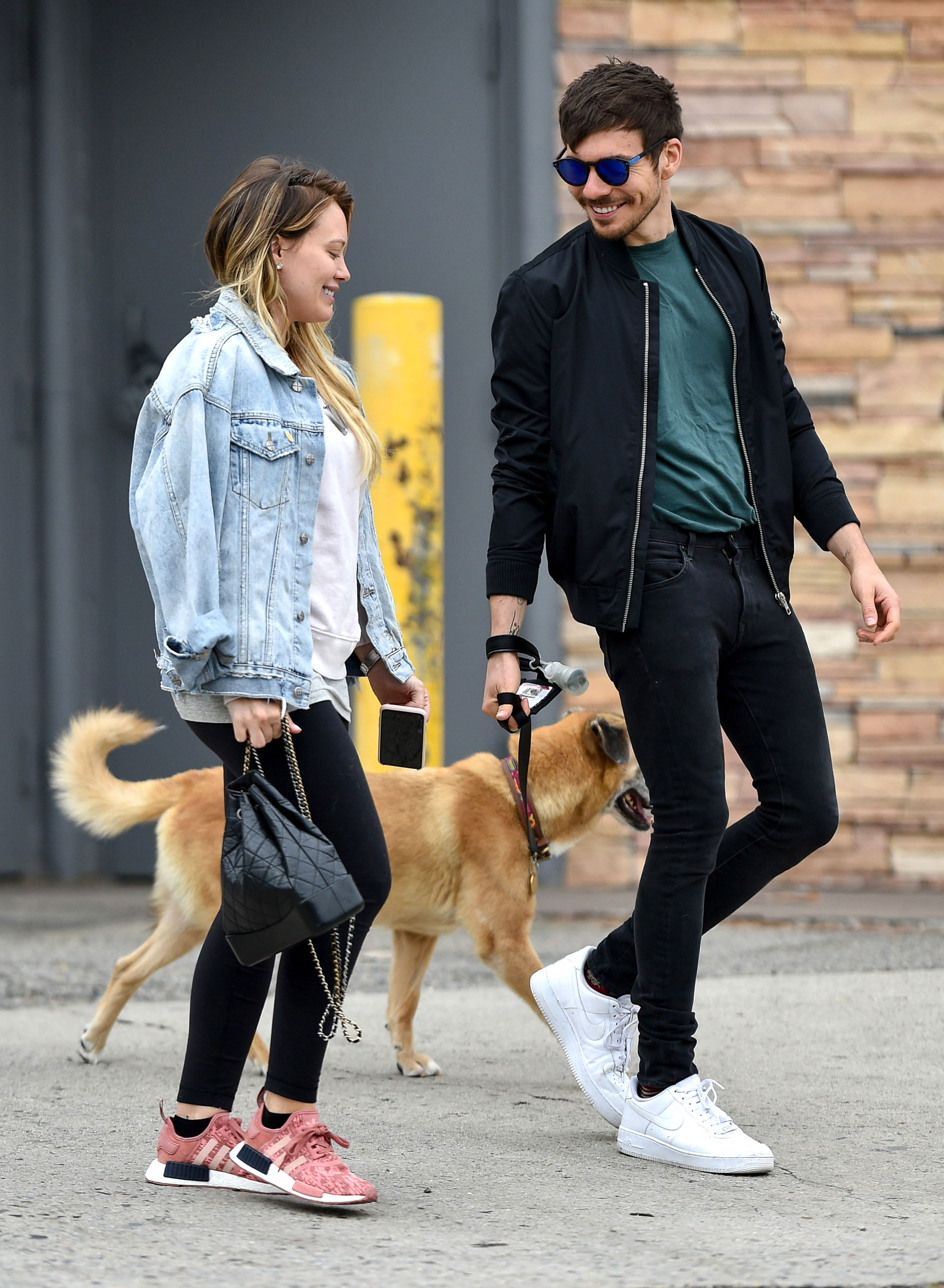"""Hilary Duff and Matthew Koma: A Timeline of Their Relationship - Duff and Koma welcomed an elderly dog into their home. """"Hey guys! We adopted an old dog,"""" the actress wrote alongside a sweet Instagram pic at the time."""