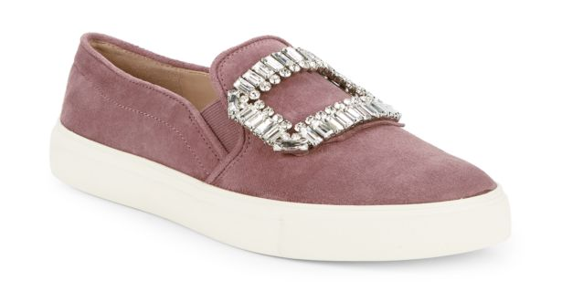 karl lagerfeld jewel embellished slip on sneaker